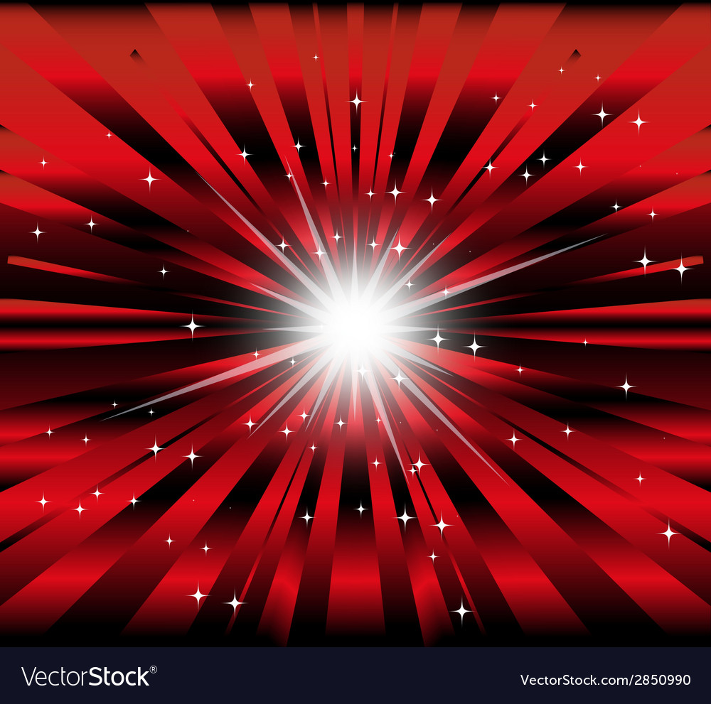 Burst Red And Black Background With Ray And Star L