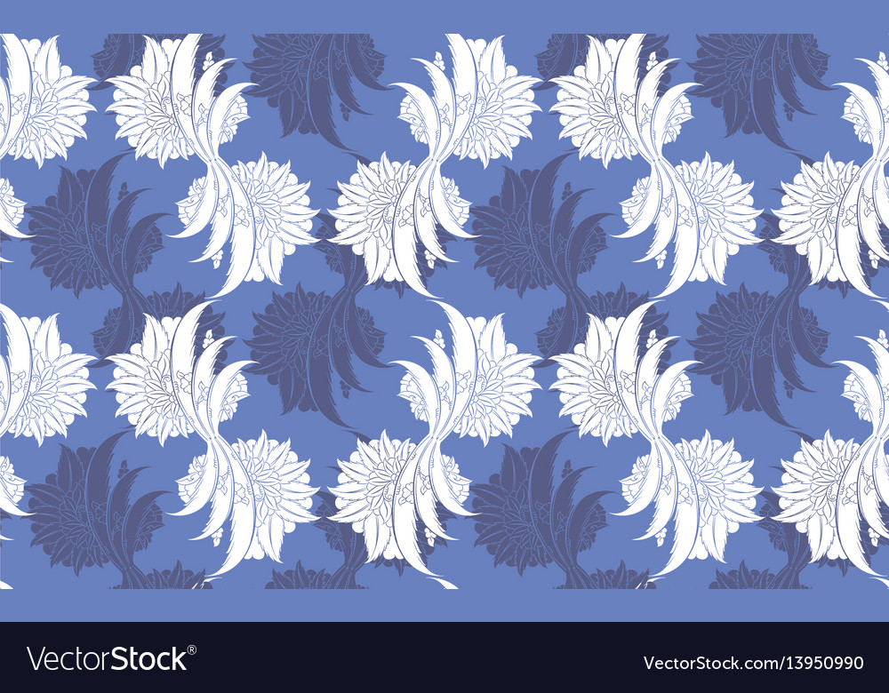 Classic floral damask seamless pattern vector image