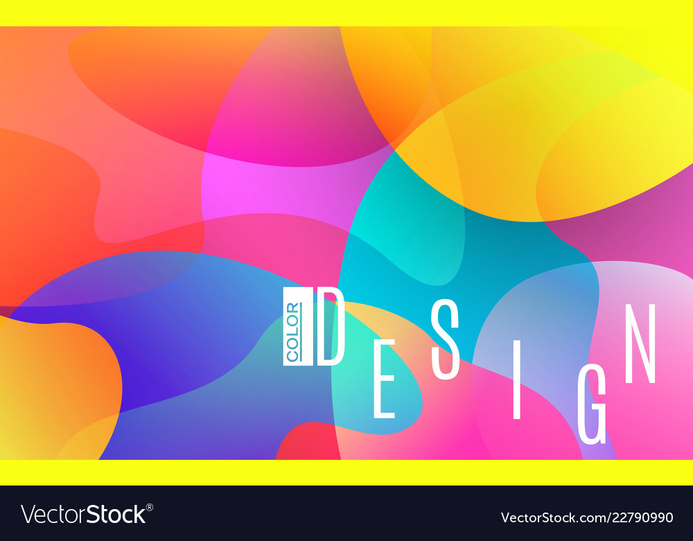 Colorful shapes bright abstract background