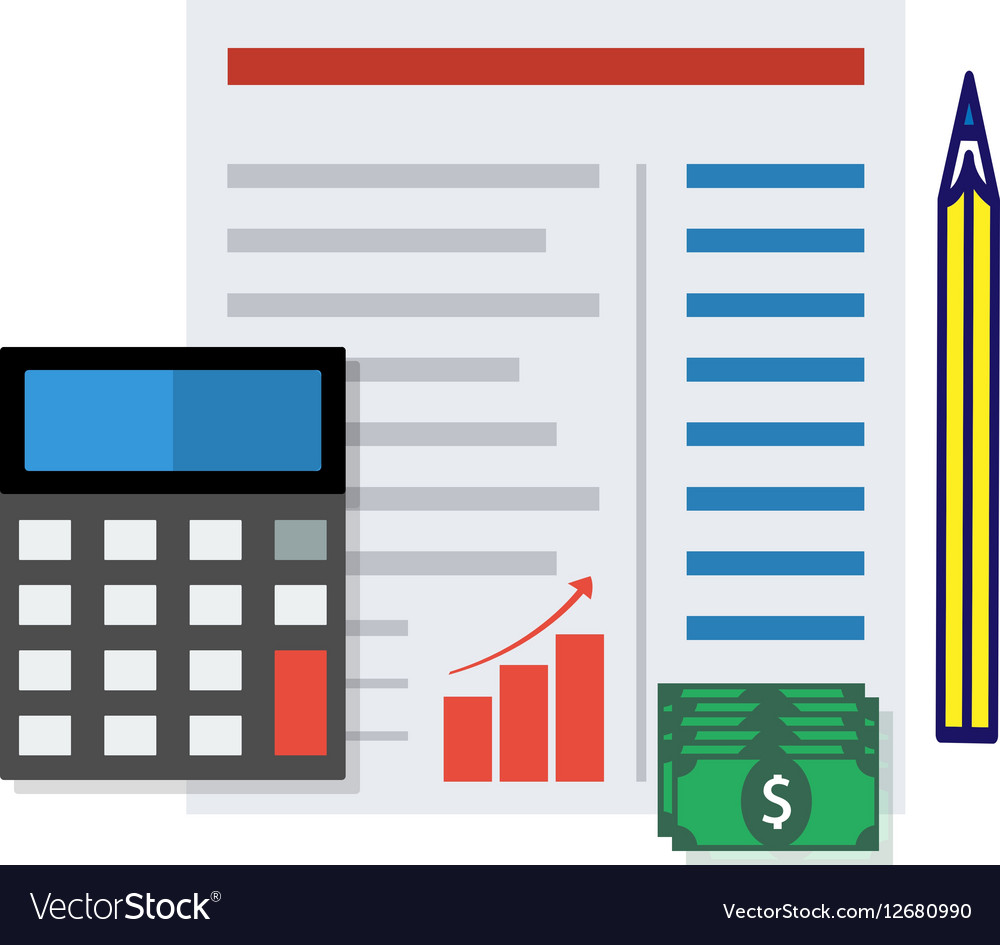 Financial report concept vector image