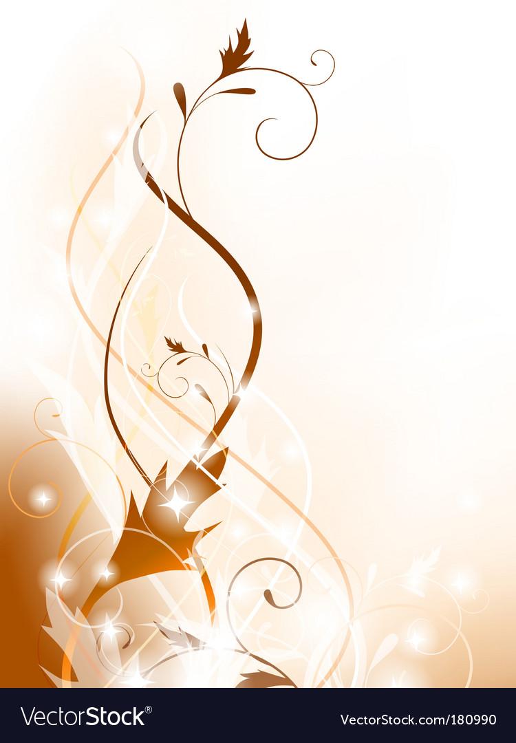 Floral decoration element vector image