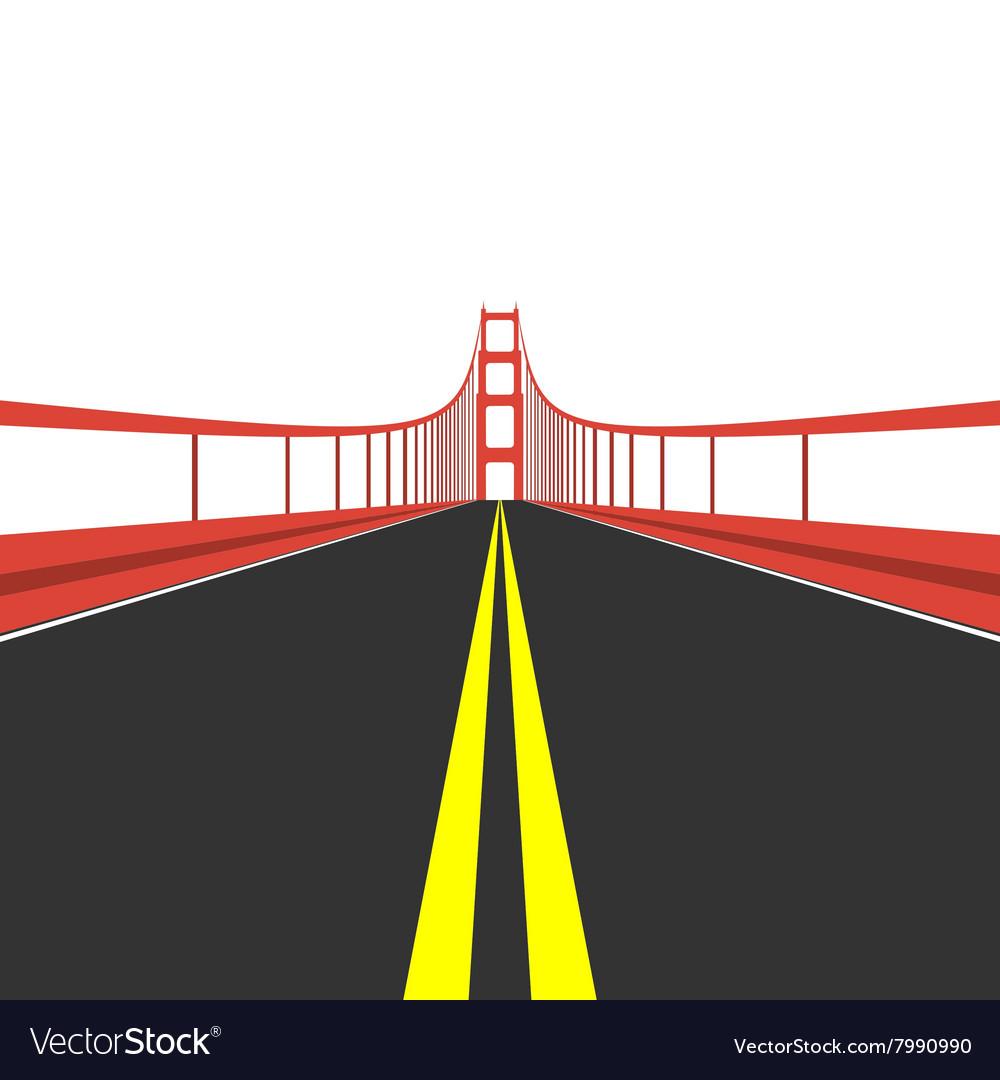 Golden Gate Bridge Royalty Free Vector Image Vectorstock Diagram Of The