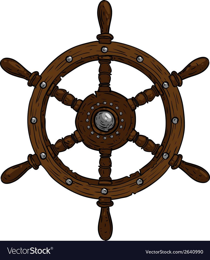 Marine Theme Steering Wheel Royalty Free Vector Image