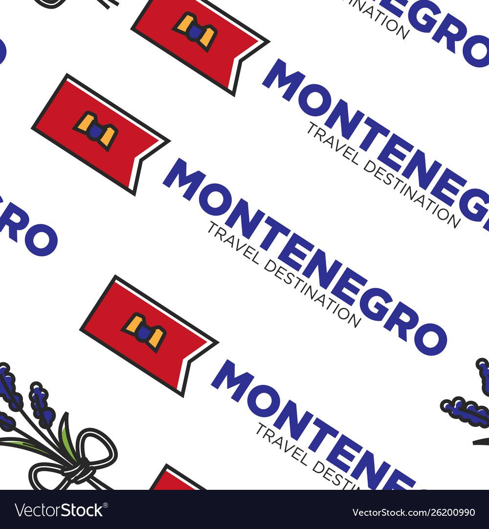 Montenegro travel destination flag national symbol
