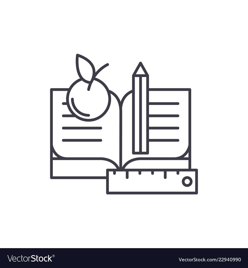 Schooling line icon concept schooling