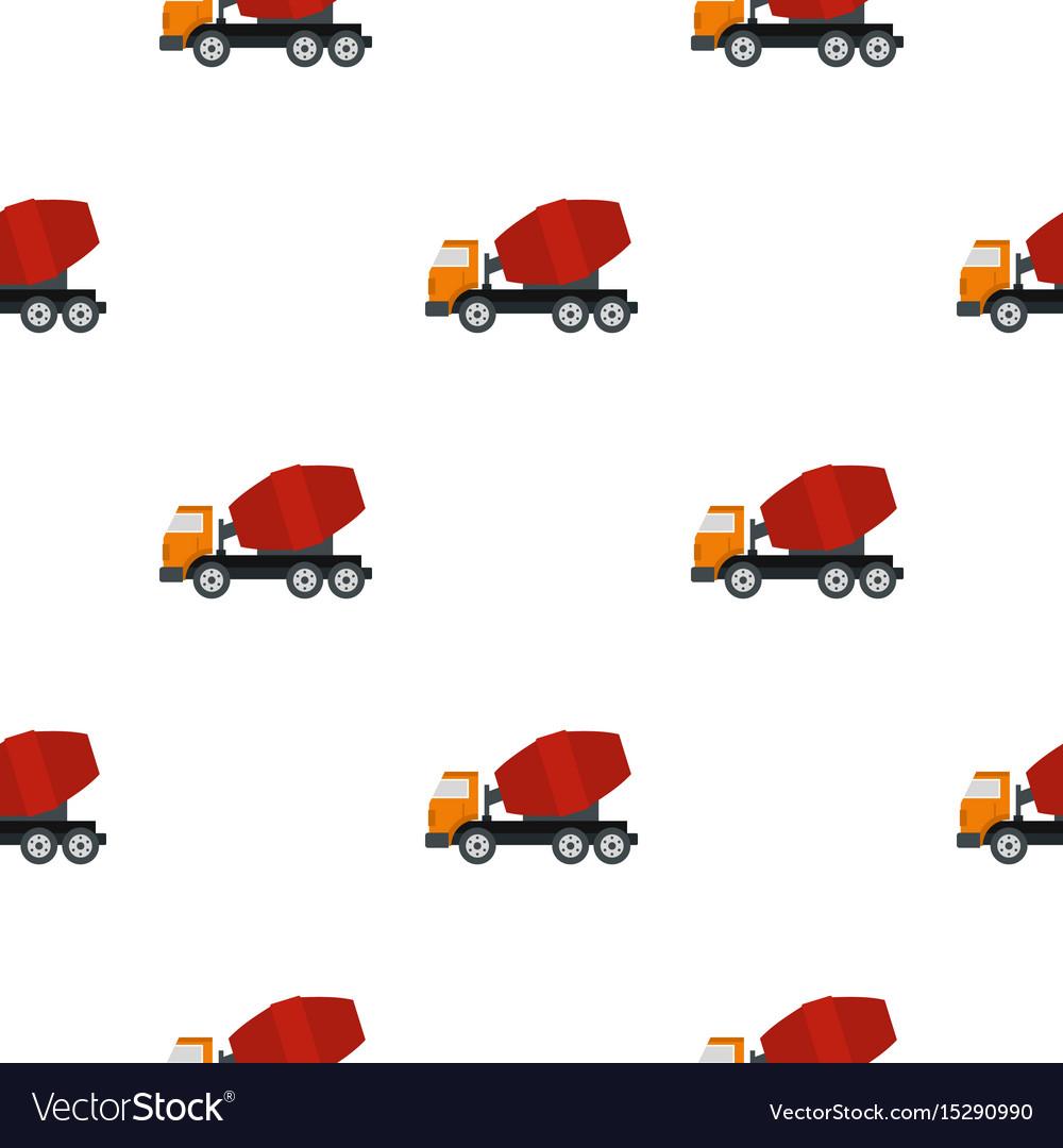 Truck concrete mixer pattern flat