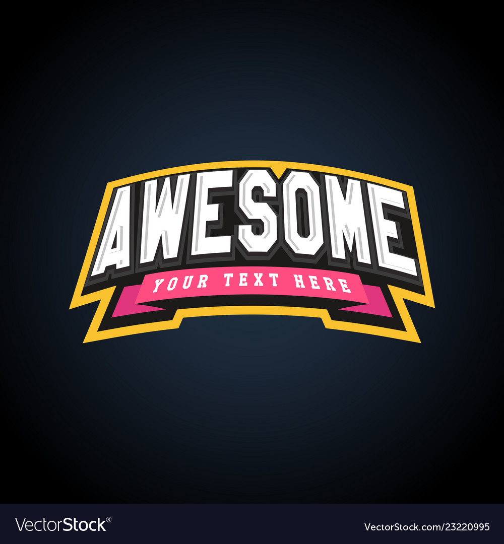 Awesome text power full typography t-shirt