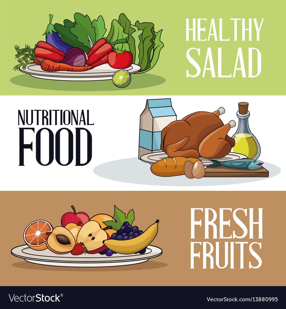 Brochure food healthy nutrition fresh