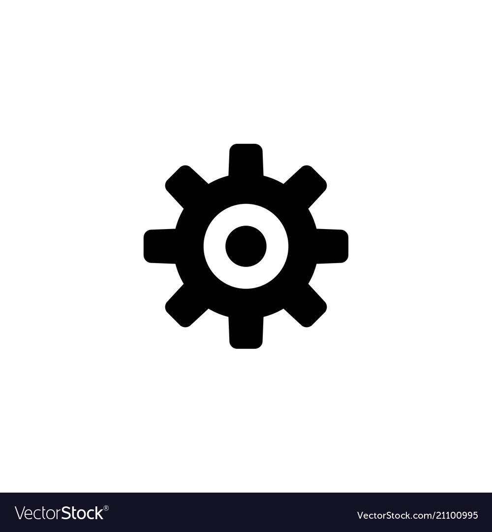 Cog settings flat icon