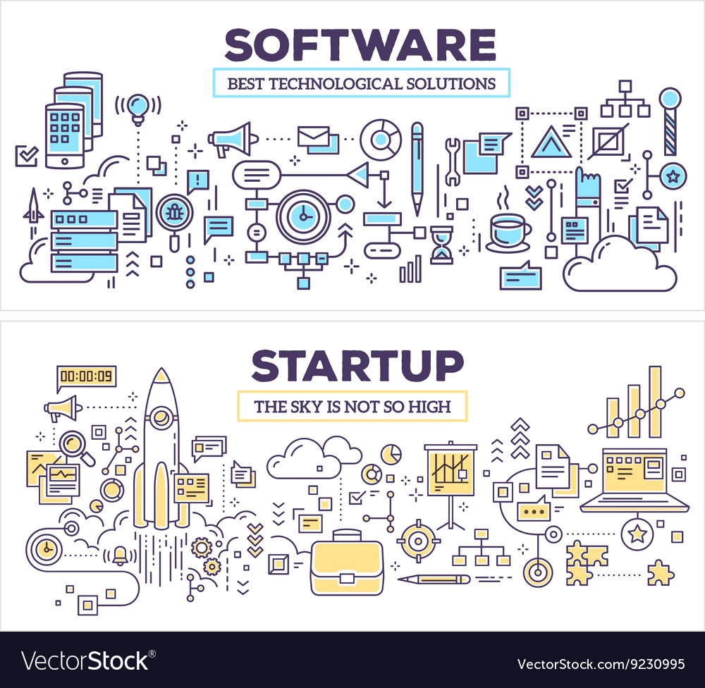 Creative concept of software and technology