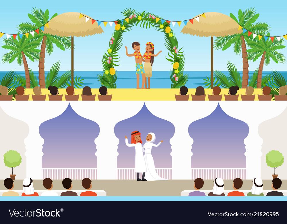 Different wedding ceremonies set traditional