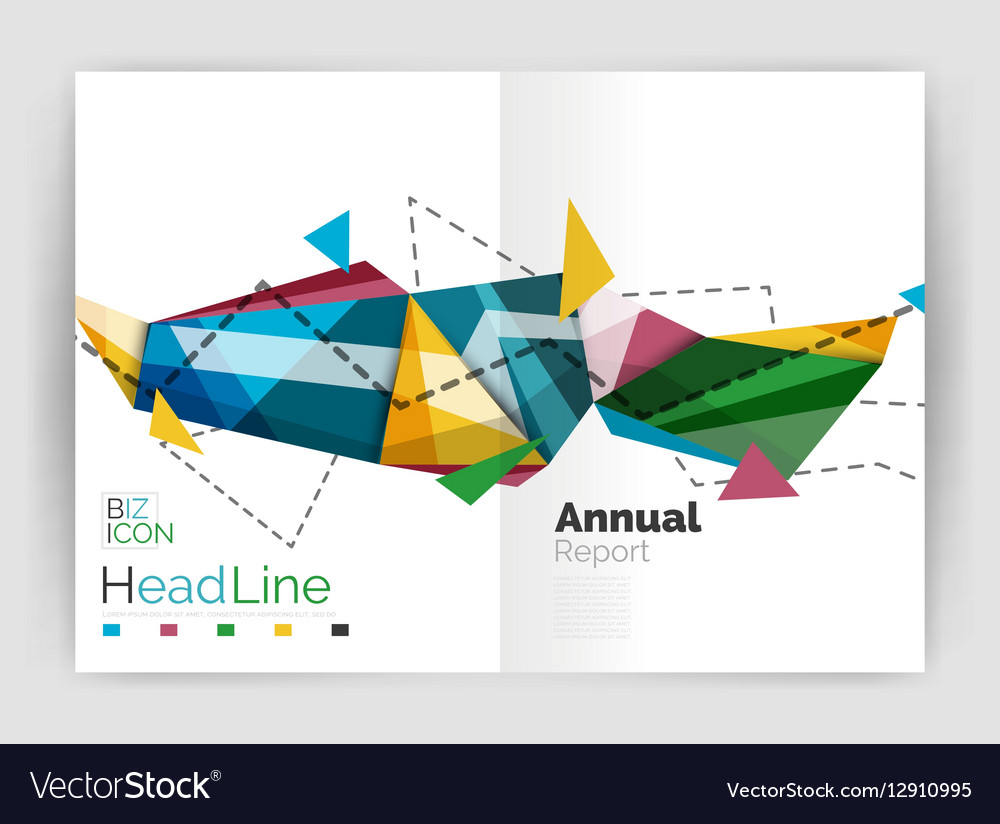 Geometric annual report business template