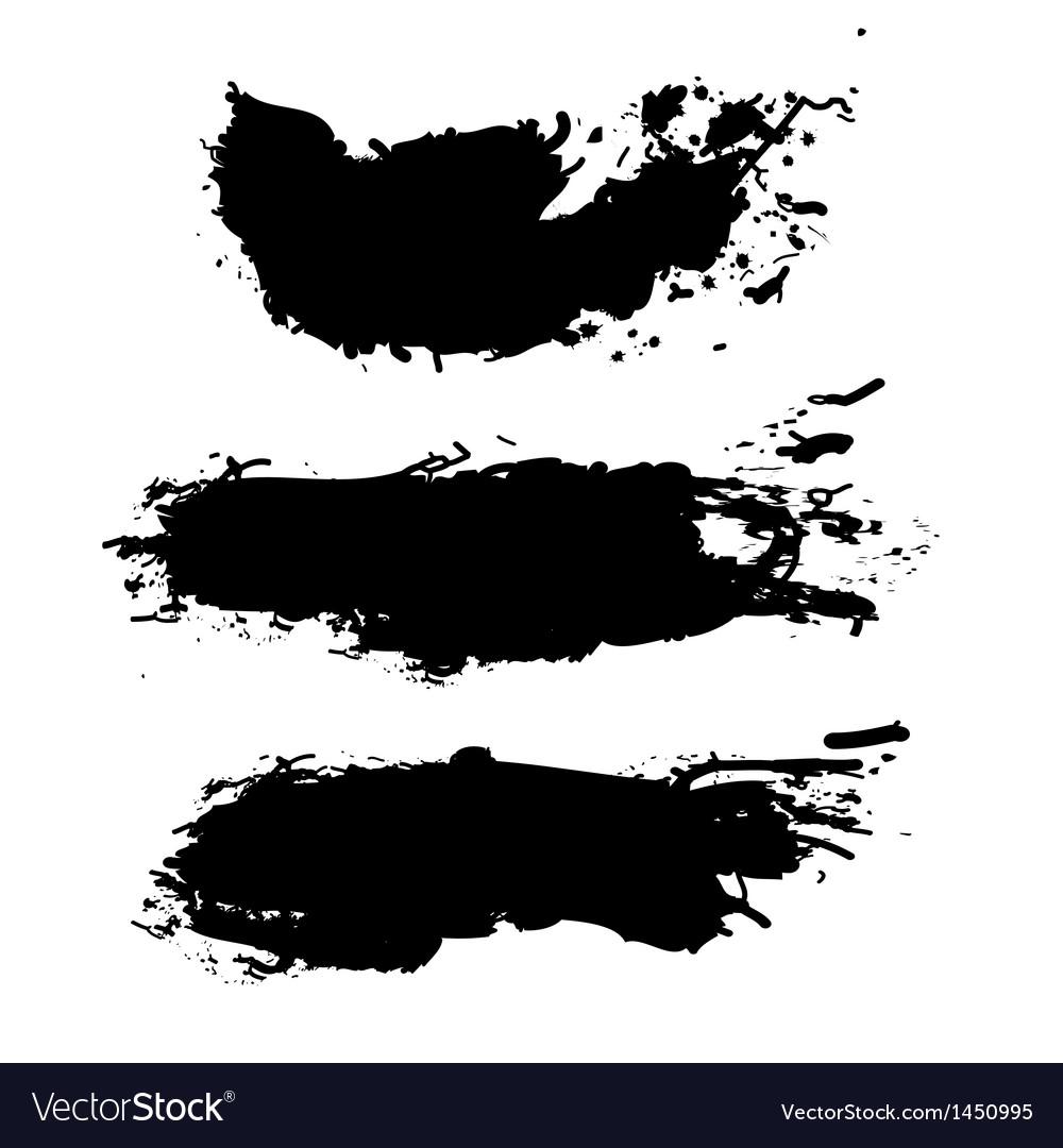 grunge paint splash royalty free vector image vectorstock rh vectorstock com vector splash clip art vector splash water