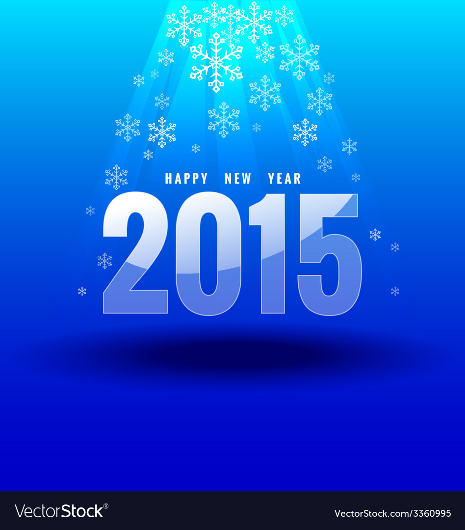 Happy new year 2015 under light vector