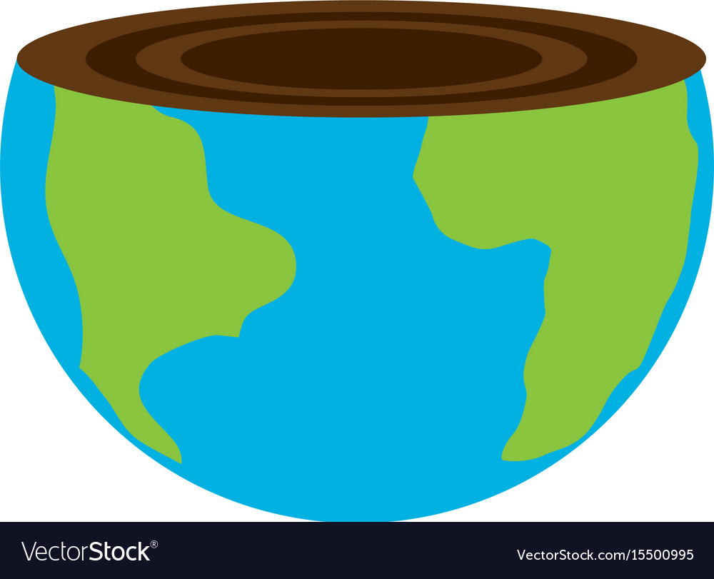 Isolated care of the planet vector image