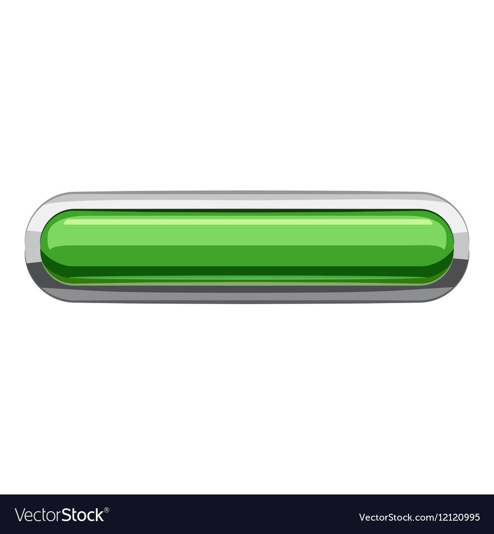 Light green rectangular button icon cartoon style