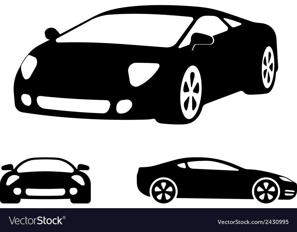 Luxury Car Silhouettes Royalty Free Vector Image