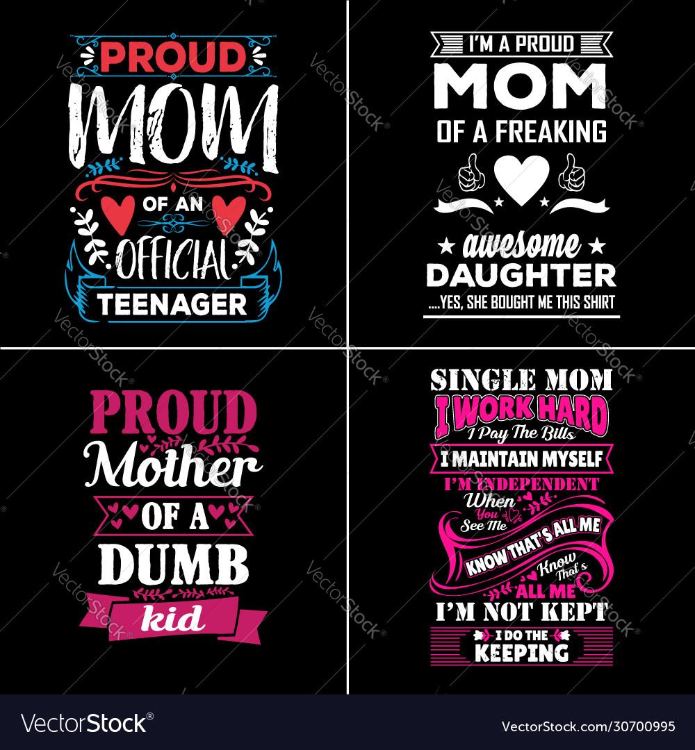 Mom typographic quotes design