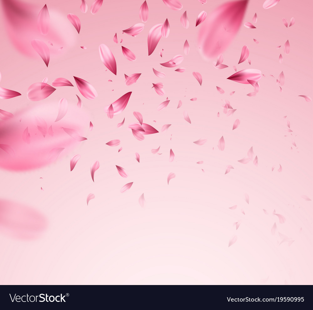 Pink sakura falling petals background royalty free vector pink sakura falling petals background vector image mightylinksfo