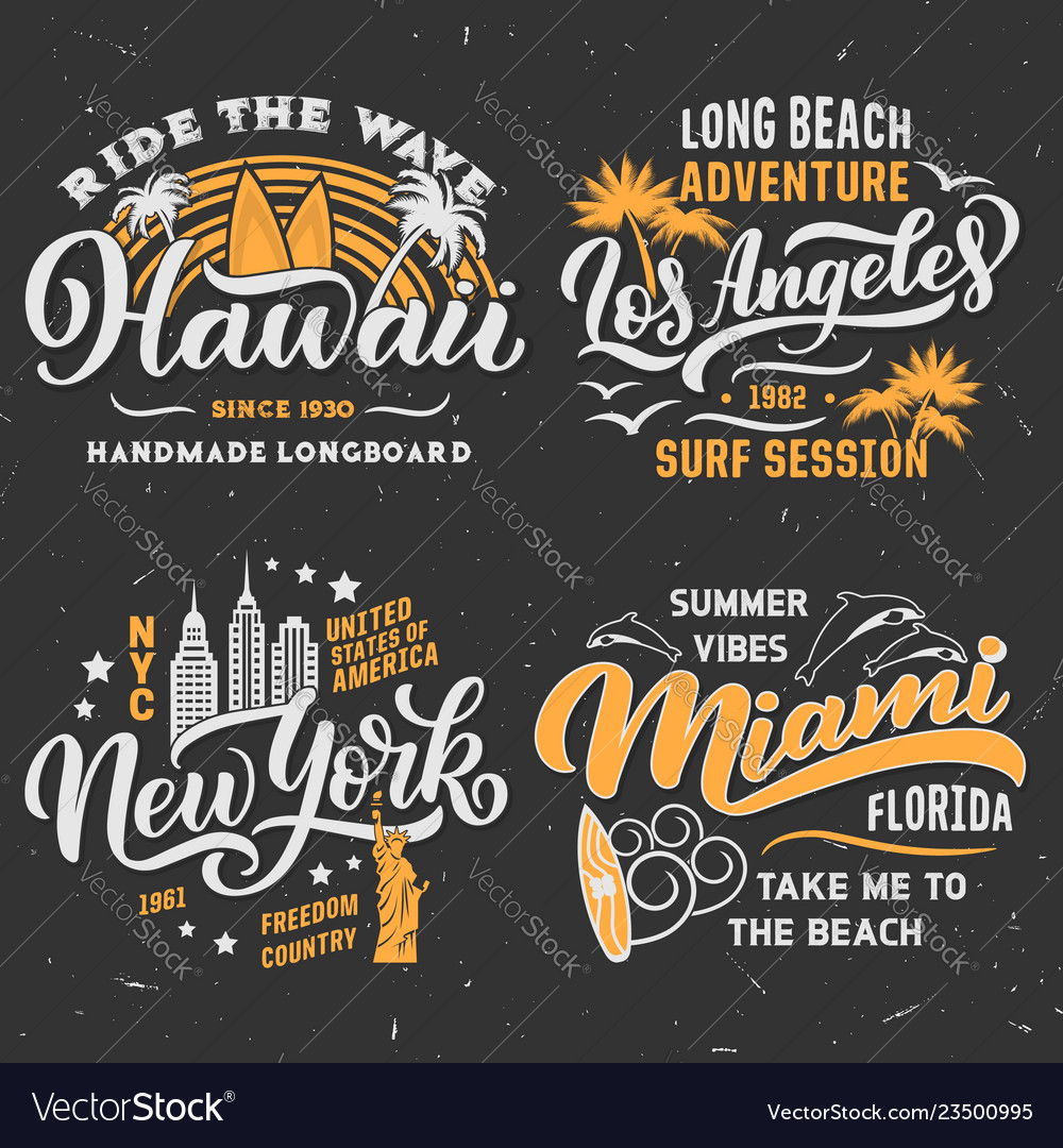Surfing summer t-shirt design