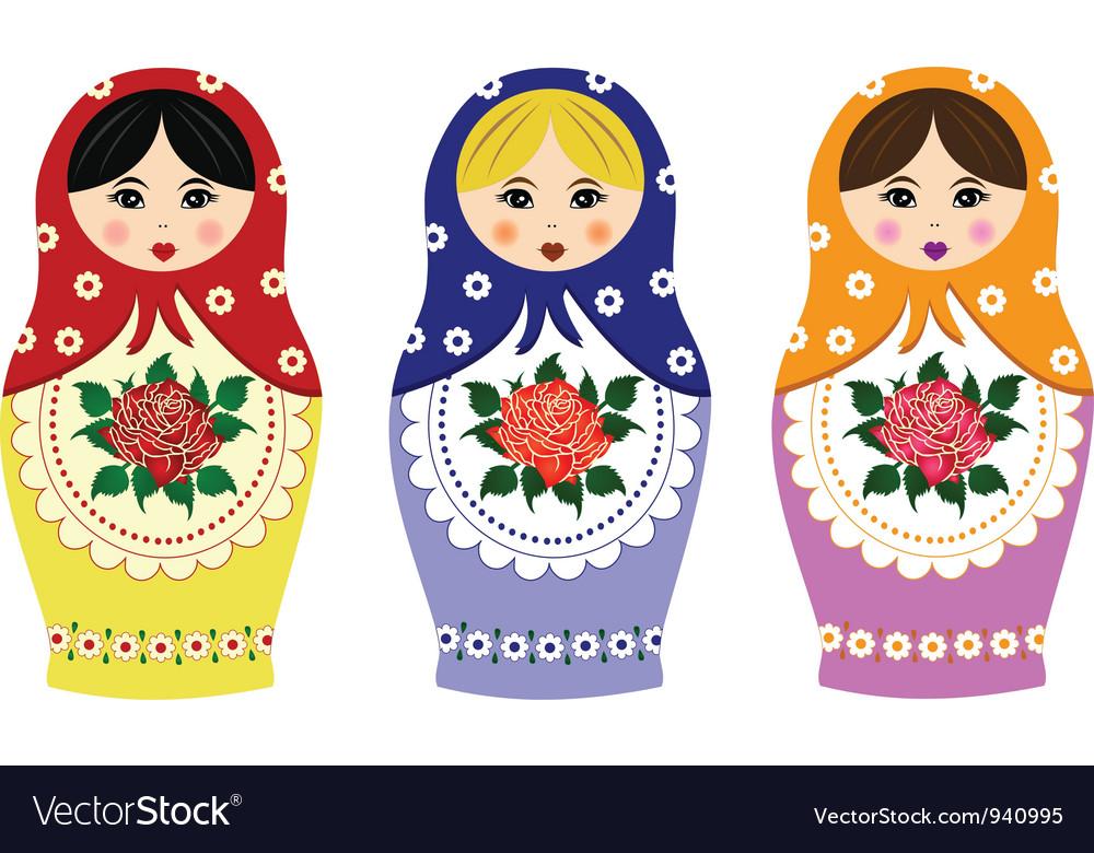 Traditional russian matryoshka vector image