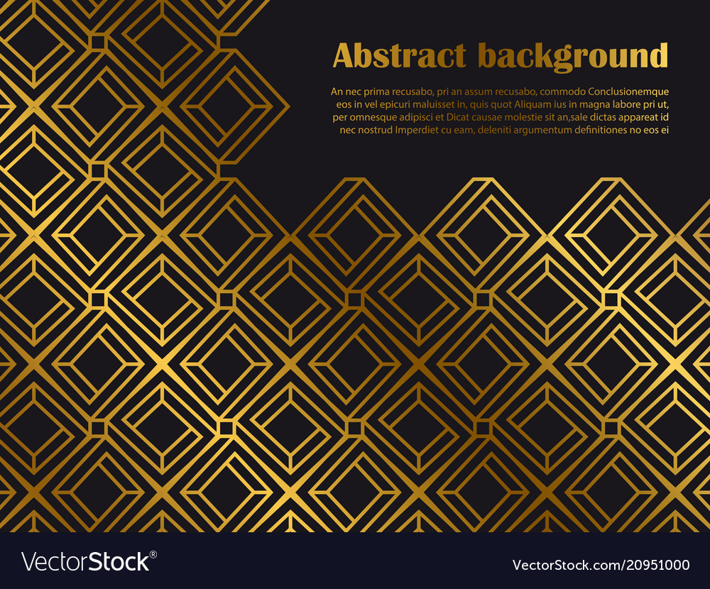Abstract minimal style background with golden