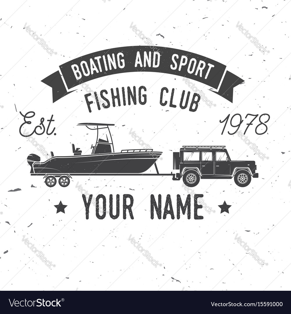 Boating and sport fishing club vector image