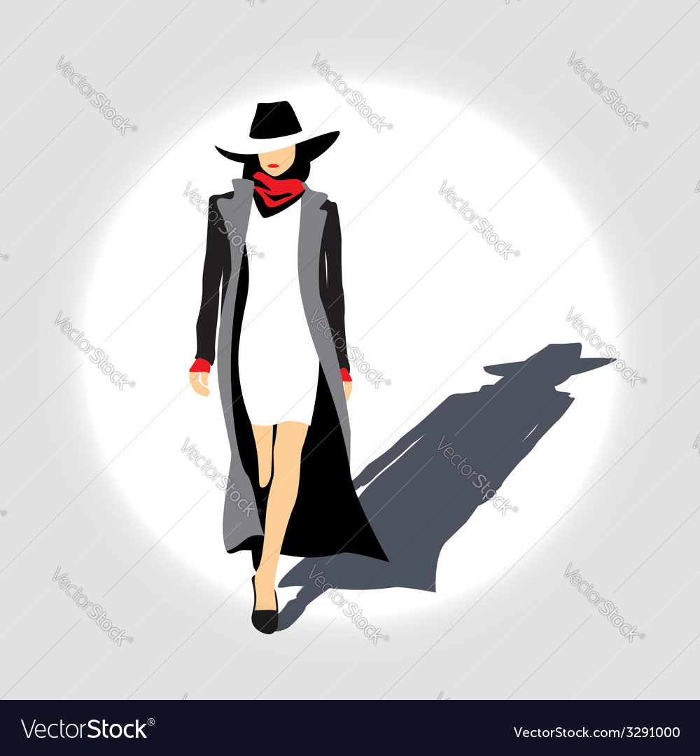 Business lady with hat