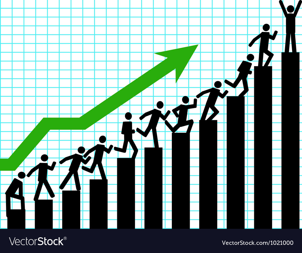 Business up vector image