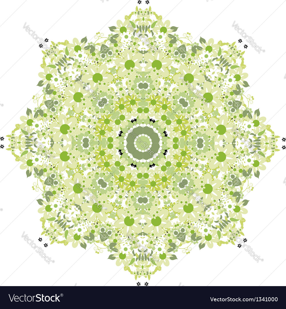 Floral pattern for your design spring concept vector image
