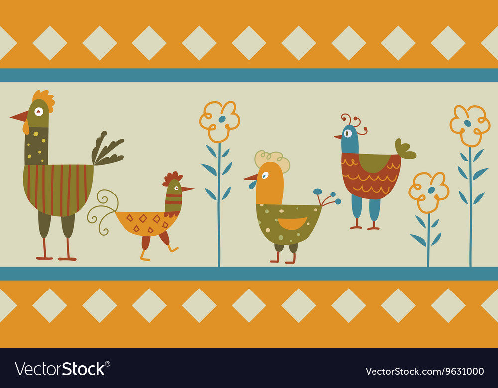 Funny hen background