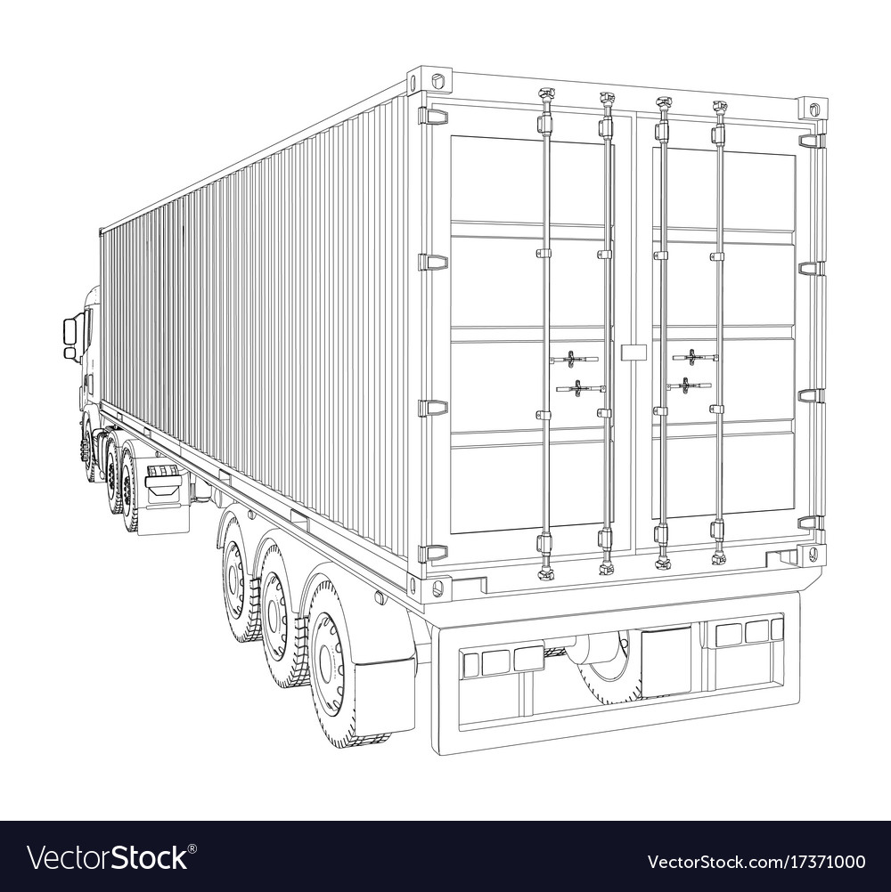 Logistic by container truck