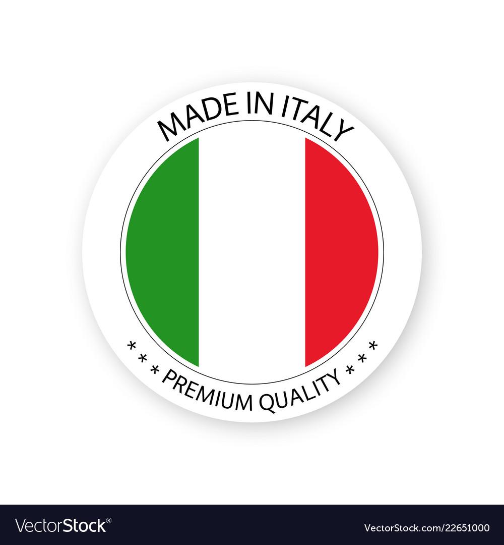 Modern made in italy label italian sticker