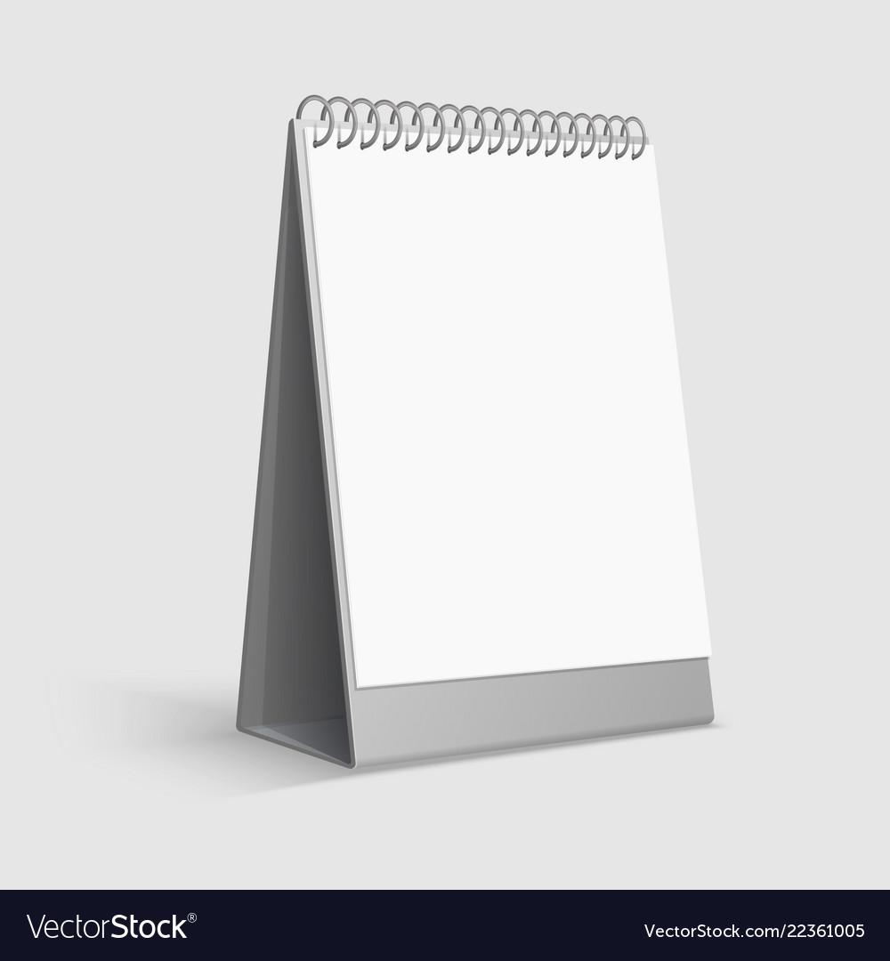 Calendar mockup blank white desktop office