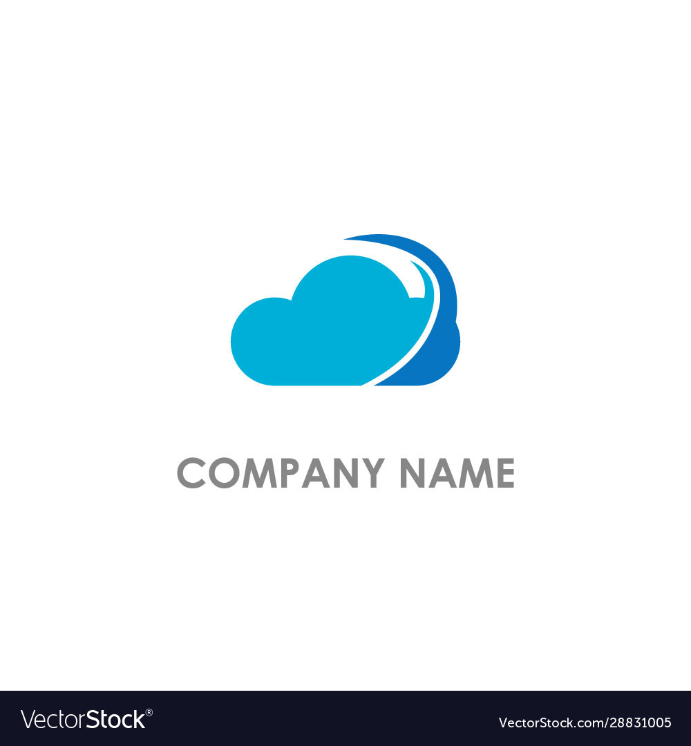 Cloud abstract weather logo