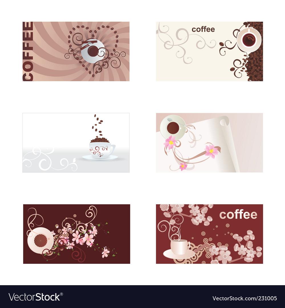 Coffee cards set