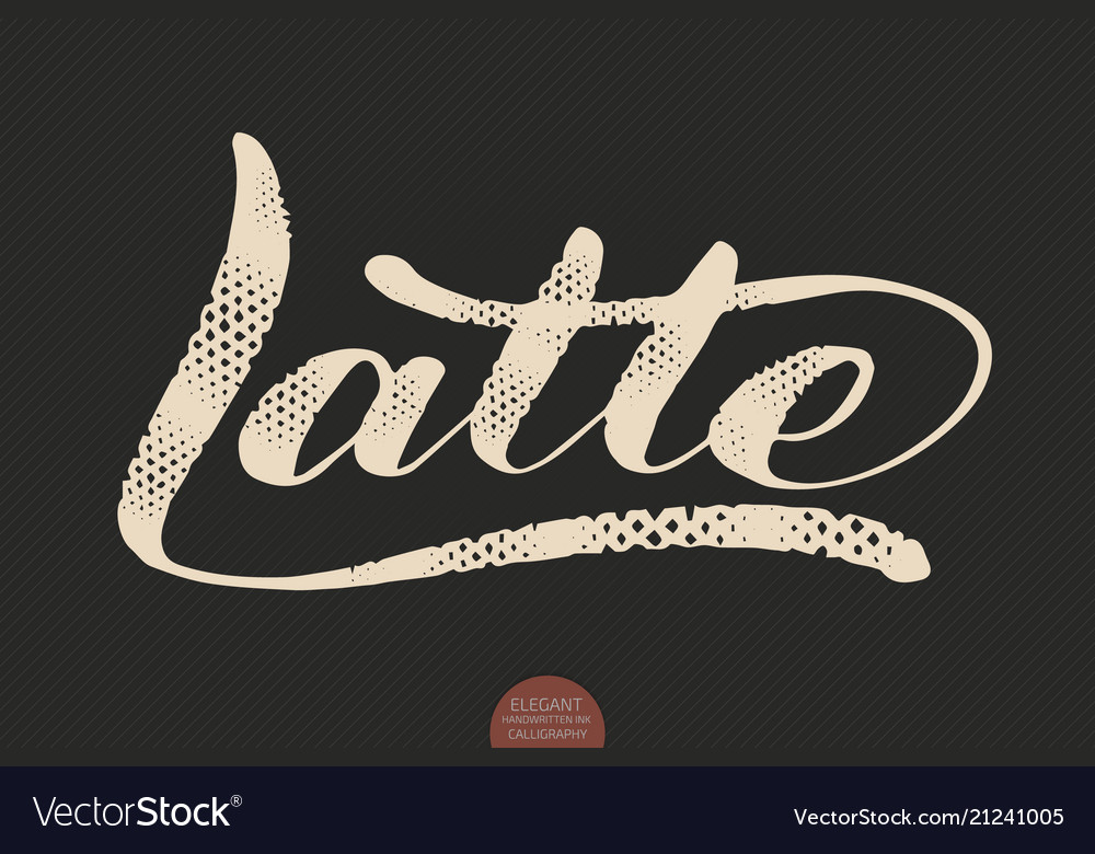 Coffee lettering hand drawn calligraphy