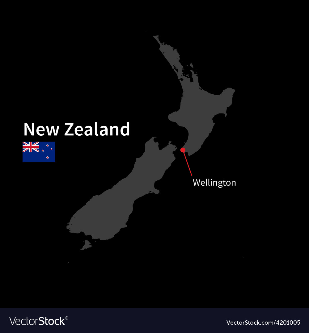 Detailed map of New Zealand and capital city