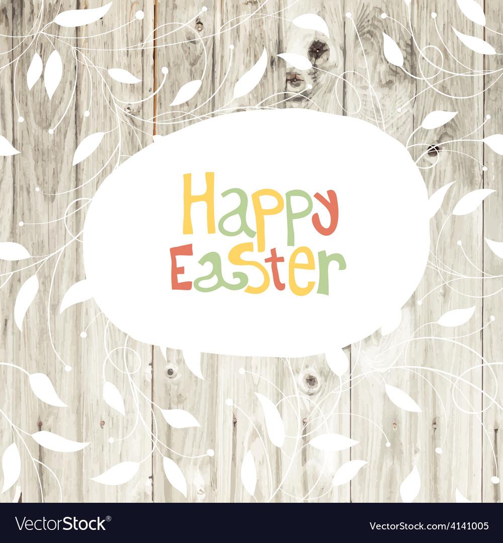 Easter card wooden back