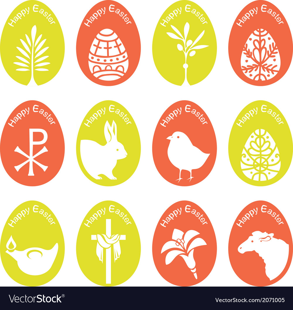 Eggs With Symbols vector image