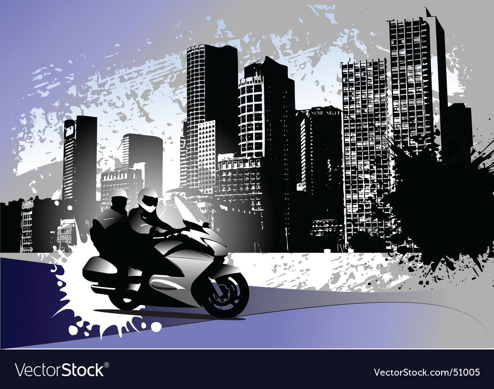 Grunge urban background vector image