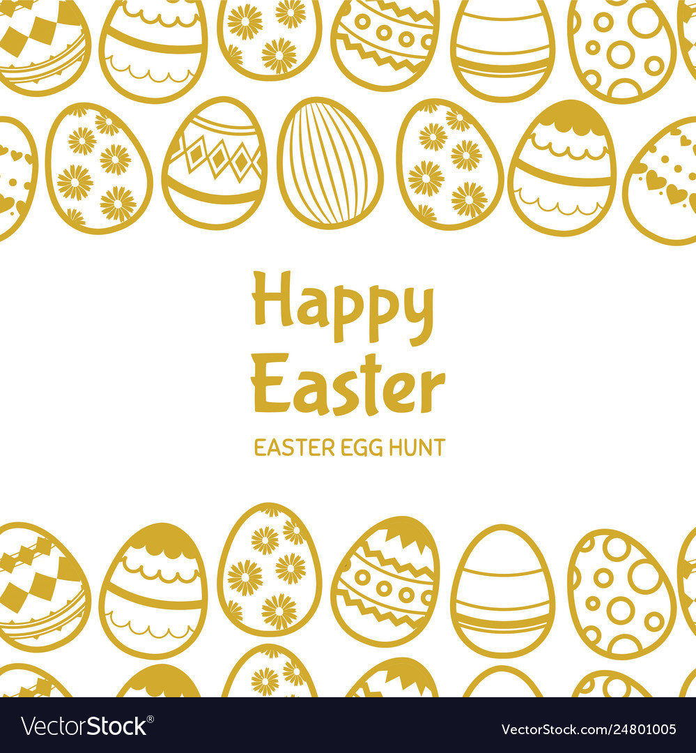 Happy easter egghunt banner template