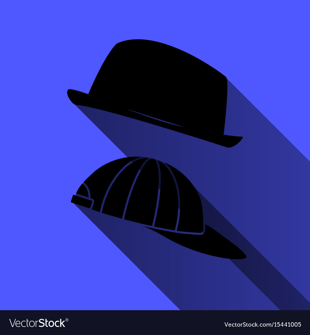 Hat and baseball cap on a blue background