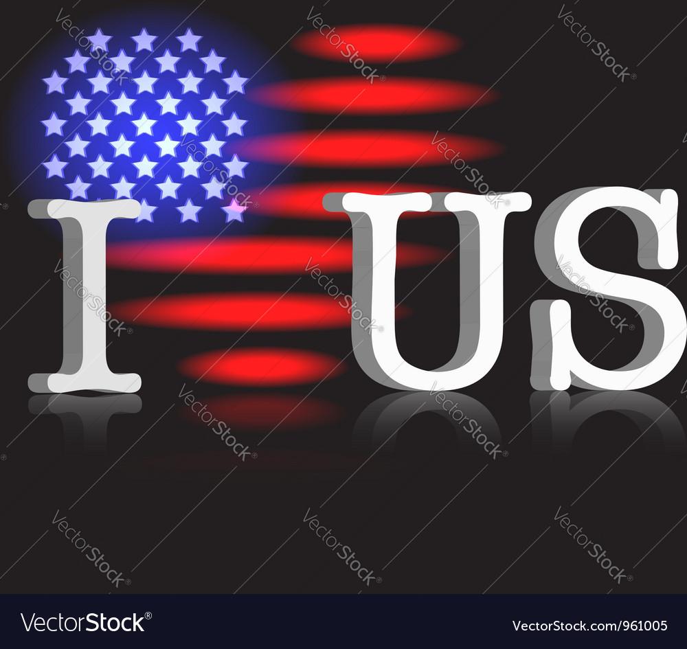 I love US vector image