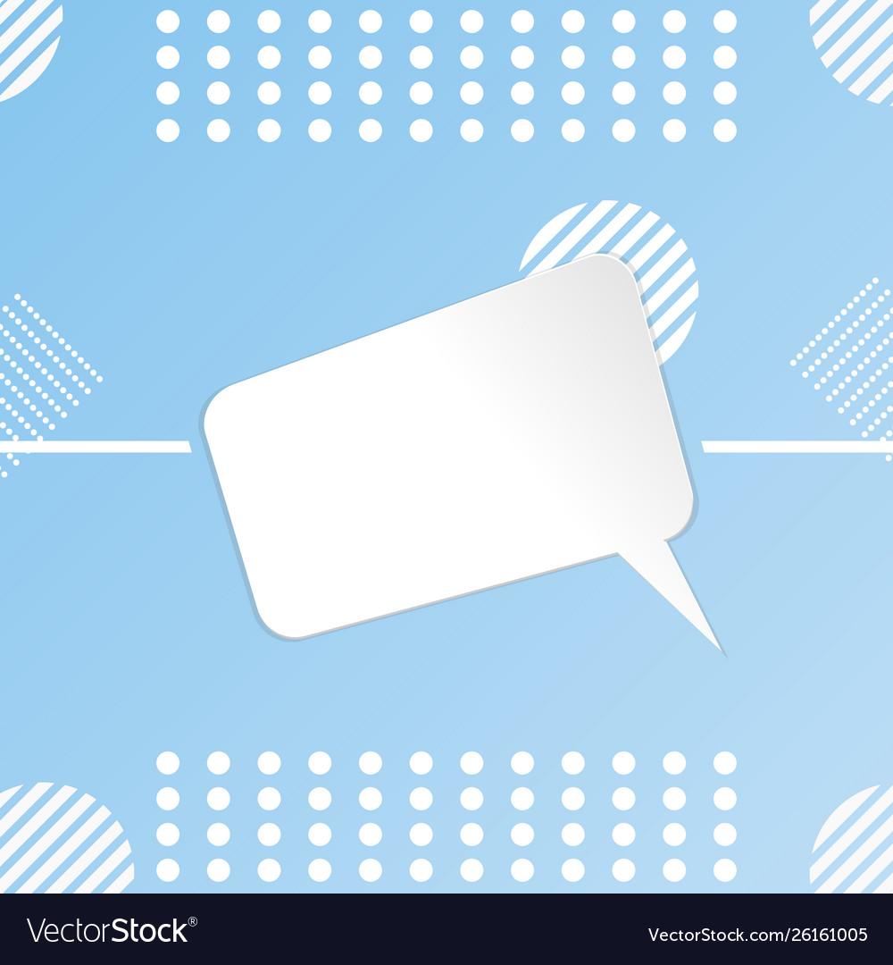 Paper cut white template design blank banner