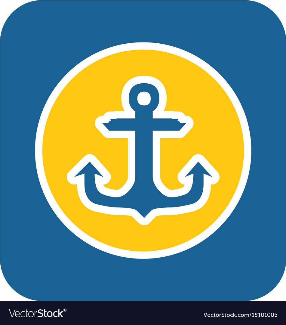 Sea sticker icon anchor