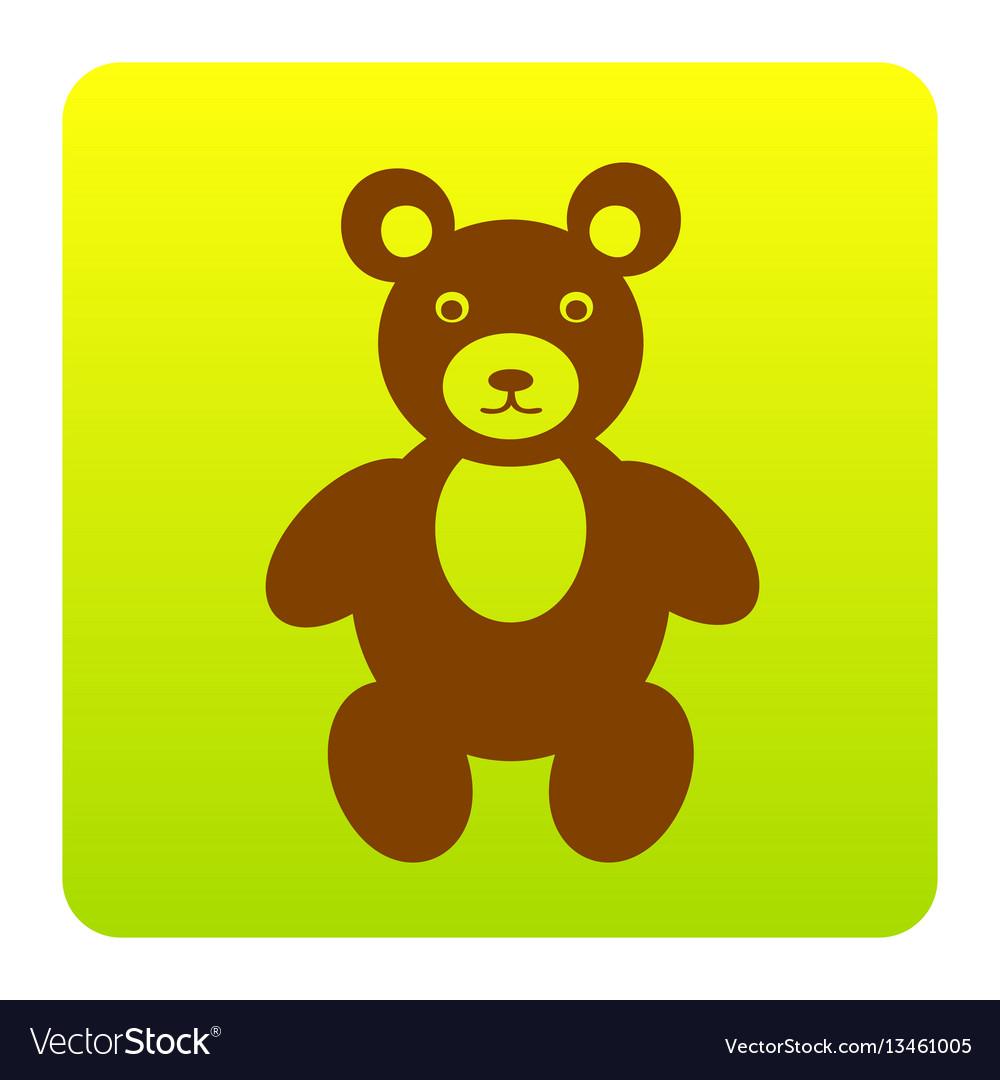 Teddy bear sign brown icon