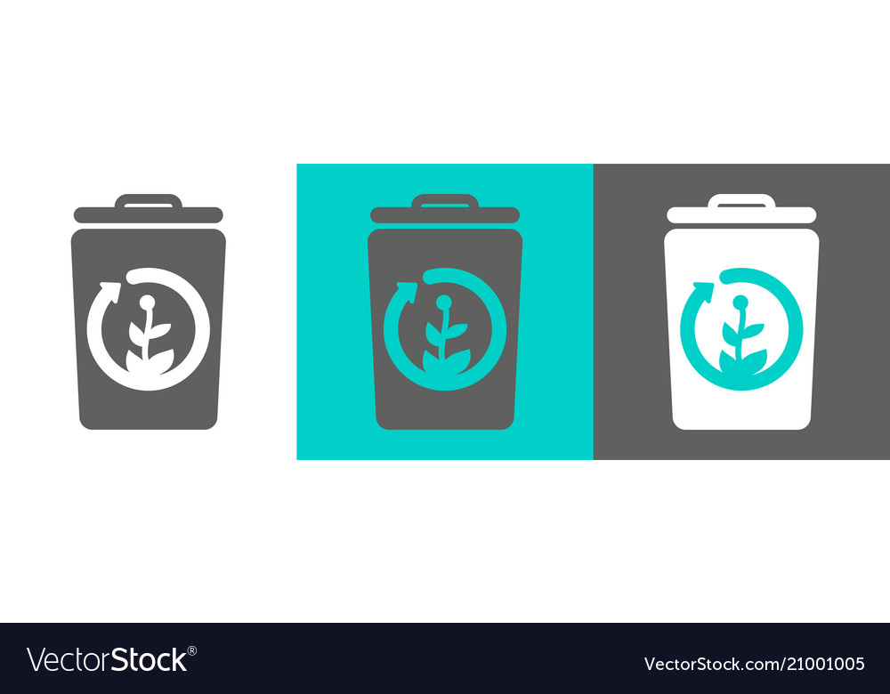 Trash bin element with battery icon