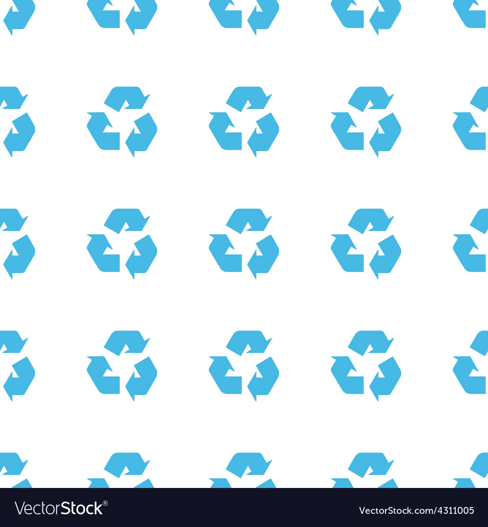Unique Recycling seamless pattern