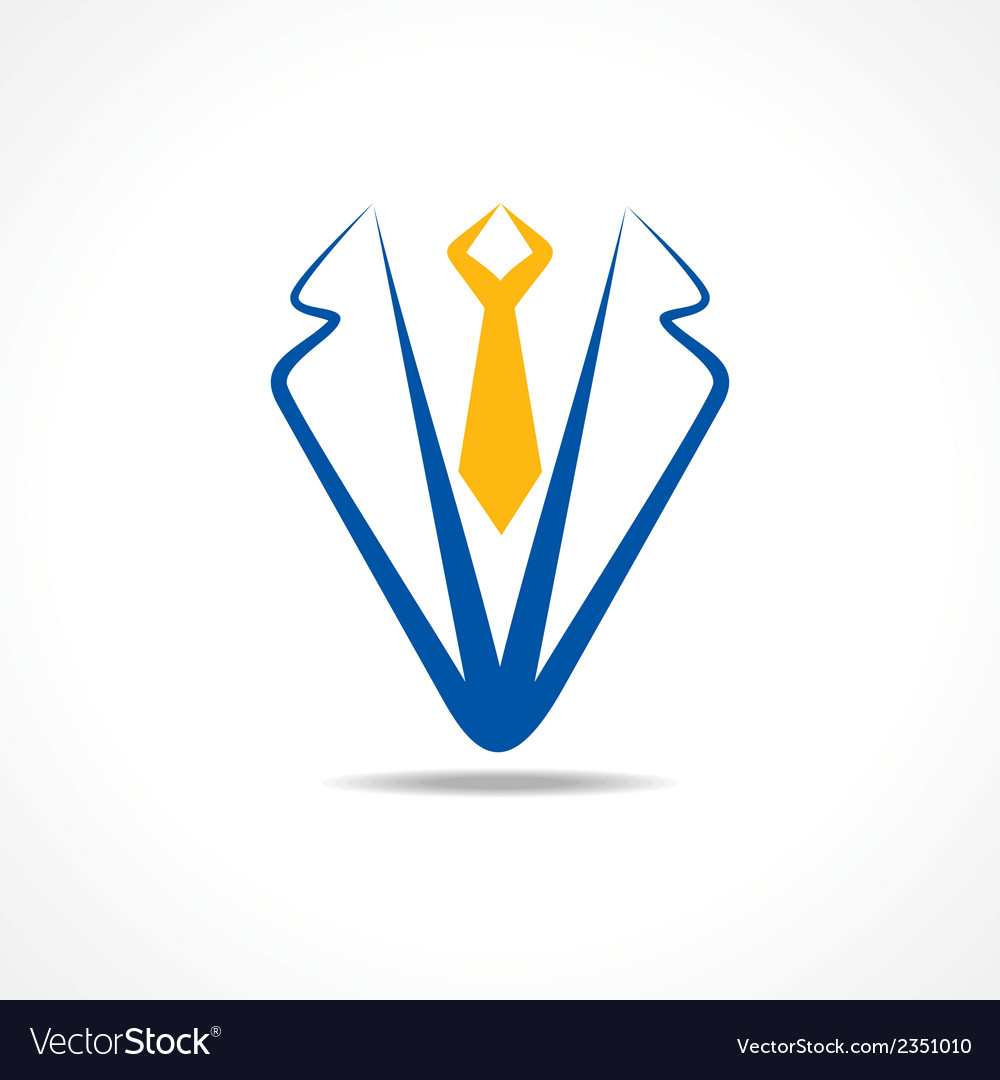 Abstract coat symbol vector image